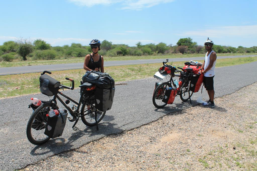 Those guys cycle from Cape Town to Burindi