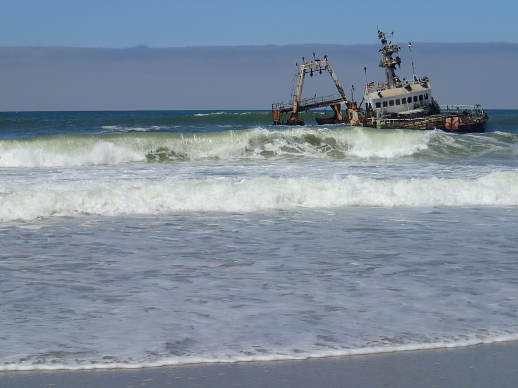 Shippreck towards Cape Cross